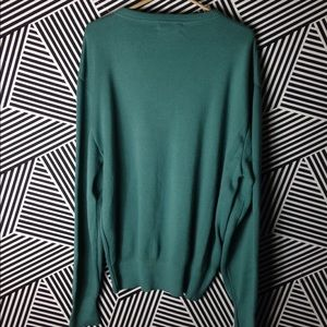 Dior Shirts - Vintage Christian Dior NEW V Neck Crested Sweater